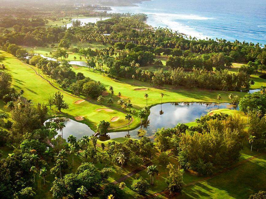 Aerial of Dorado Beach Resort, Puerto Rico