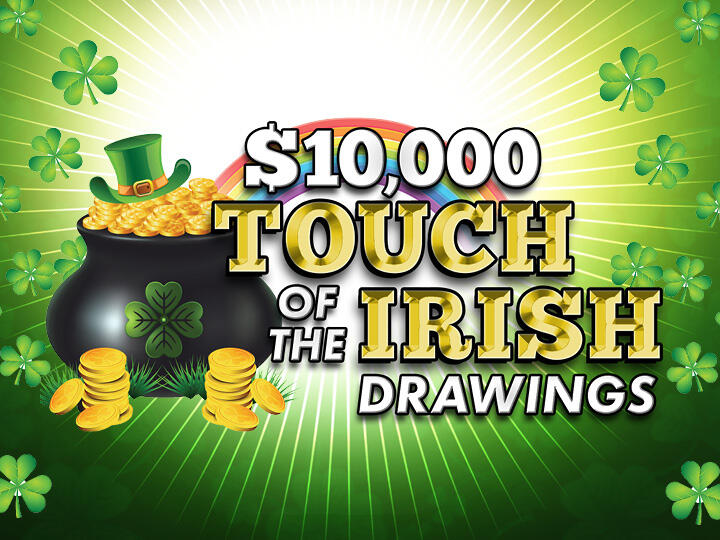 $10,000 Touch of the Irish Drawings Logo