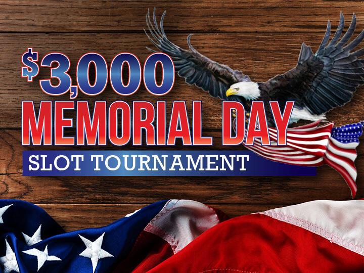 $3,000 Memorial Day Slot Tournament Logo