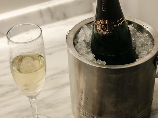 Champagne served at the hotel