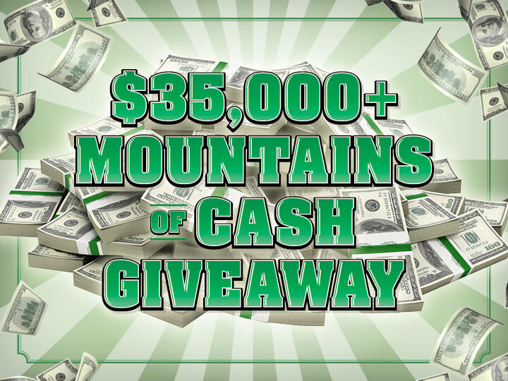 $35,000 Mountains of Cash Giveaway Logo