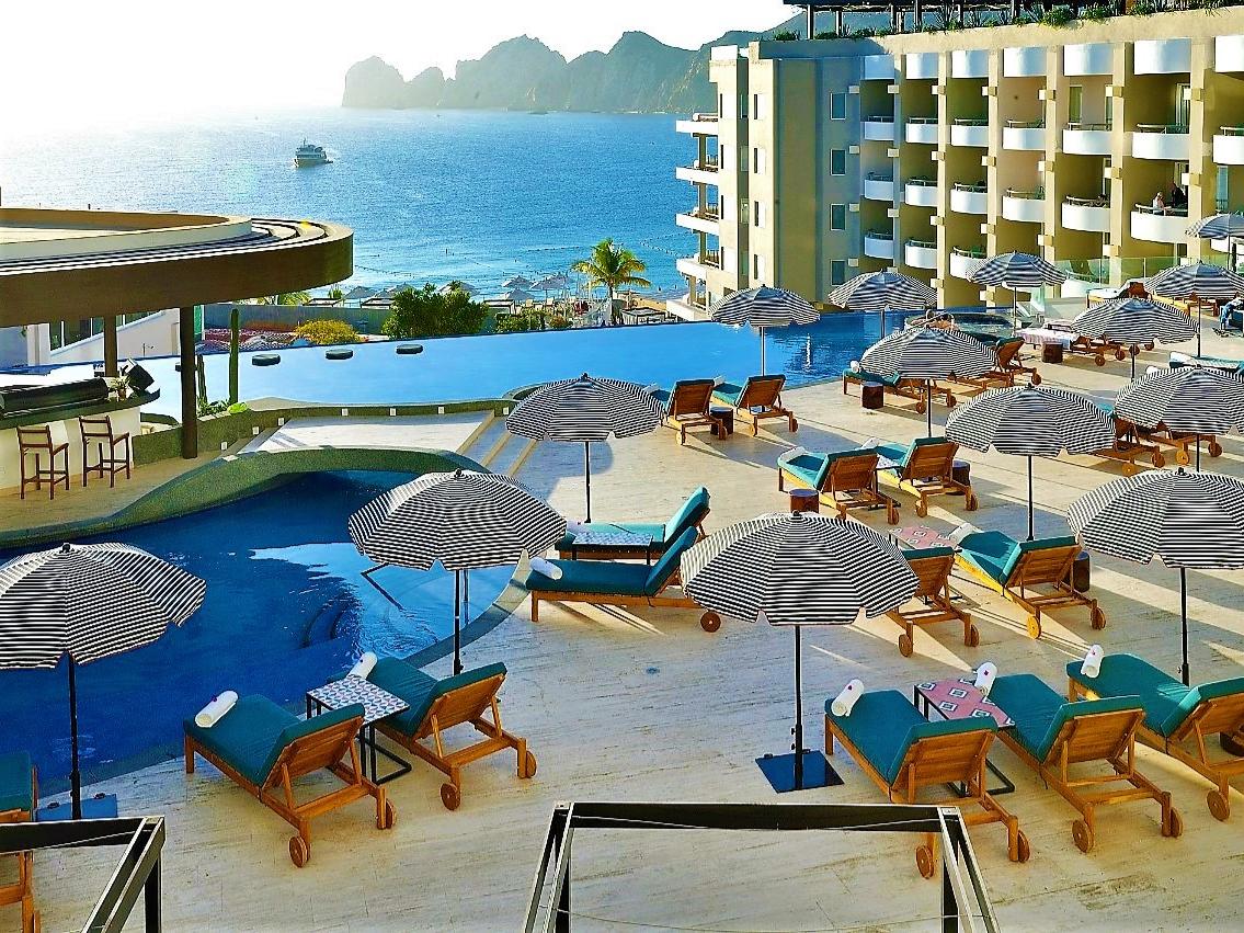 Pool area in Corazón Pool Grill  at Cabo Villas Beach Resort