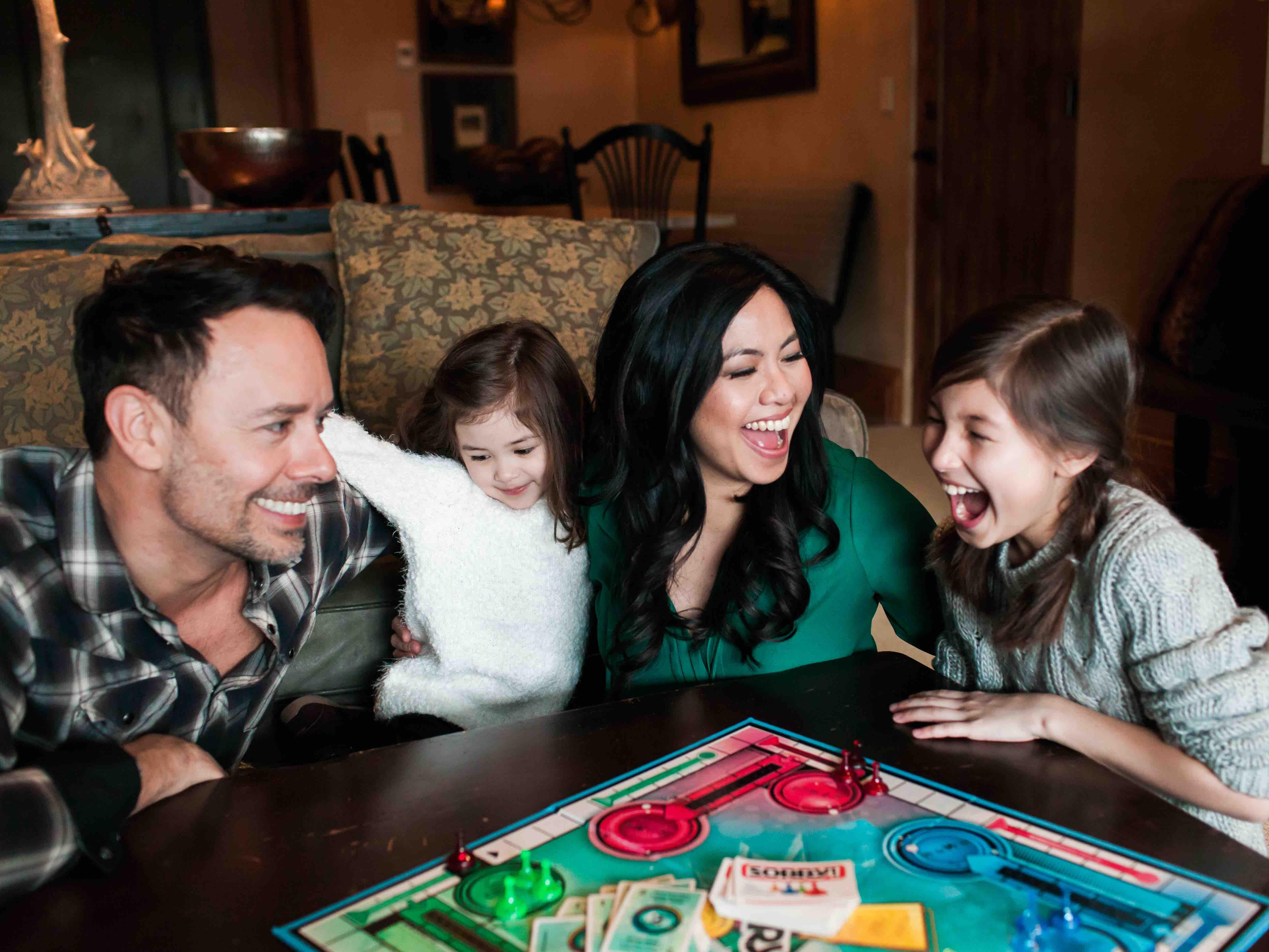 Family Games in Guest Room at The Chateaux Deer Valley