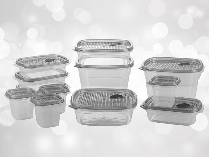 24 piece plastic food storage set