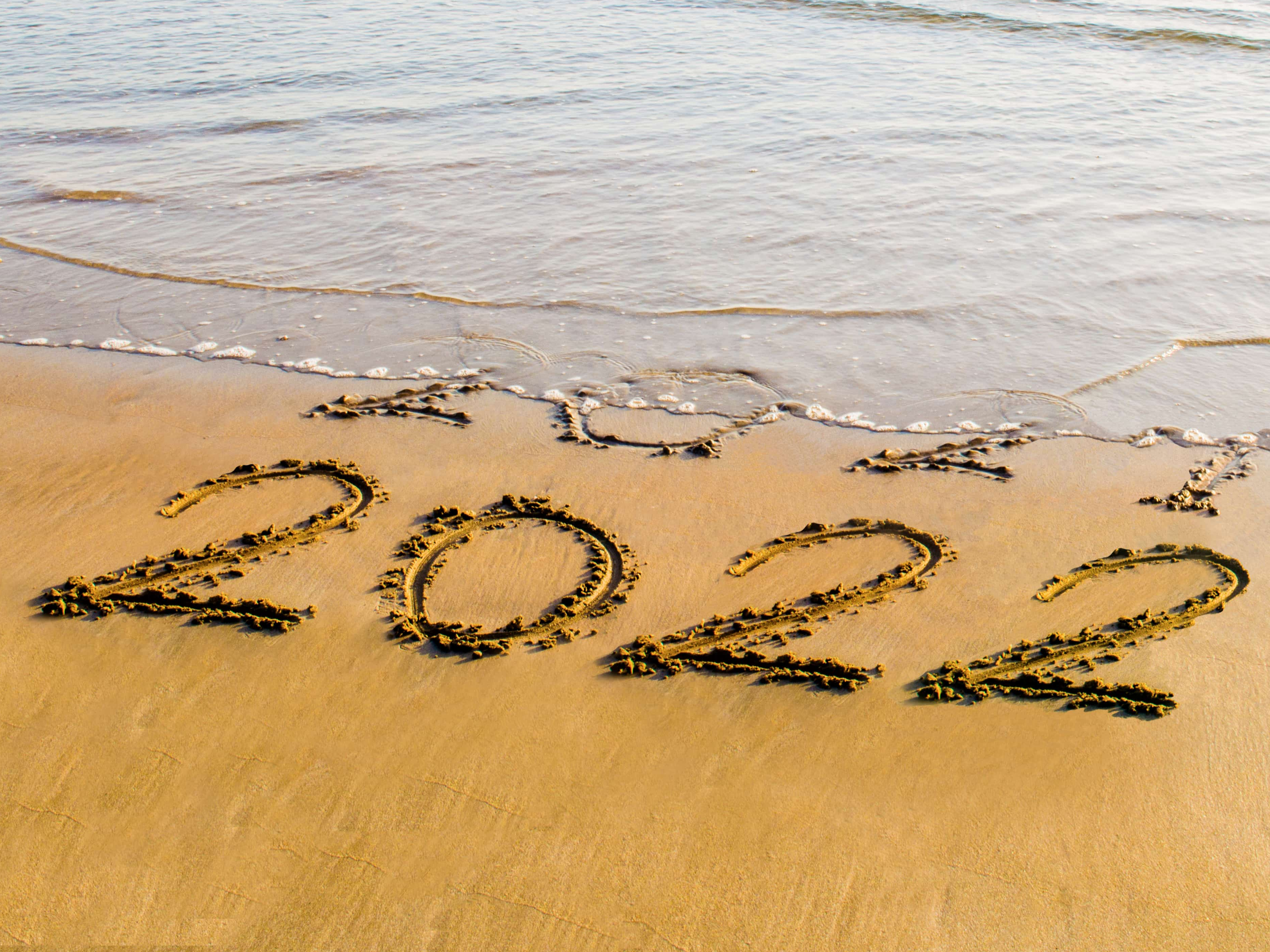 2022 written on the sand