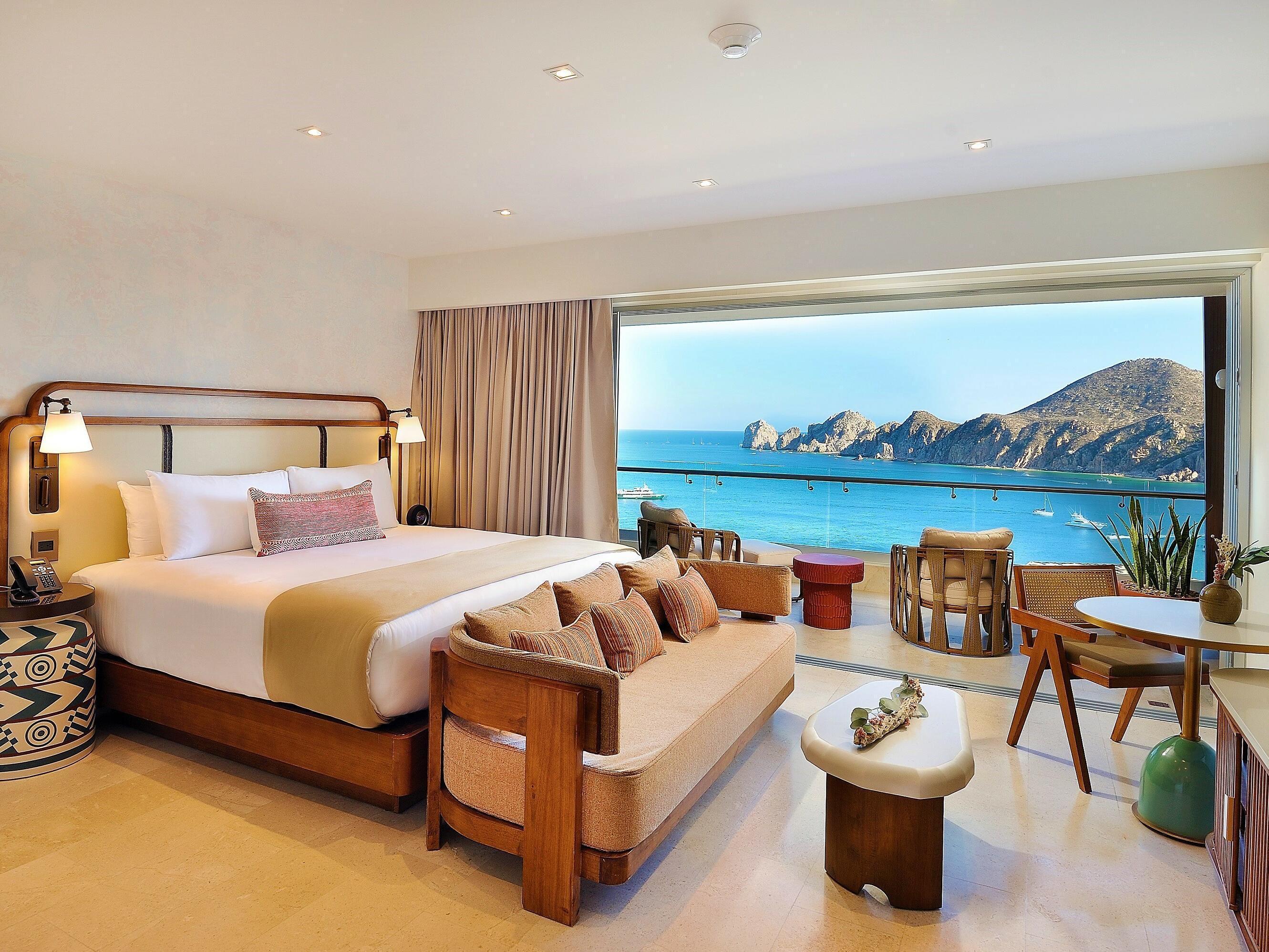 Bedroom in Infinity Suite at Cabo Villas Beach Resort
