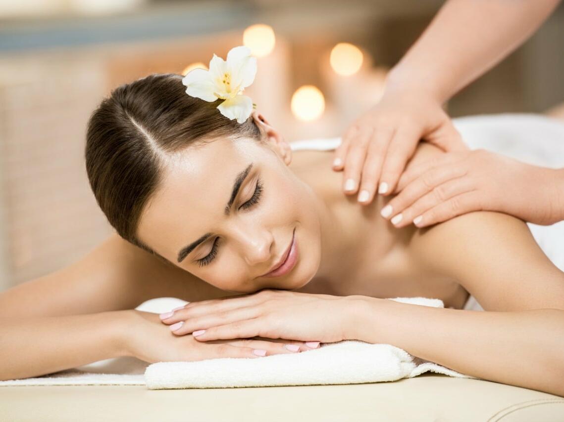Lady having a Spa massage at Cabo Villas Beach Resort