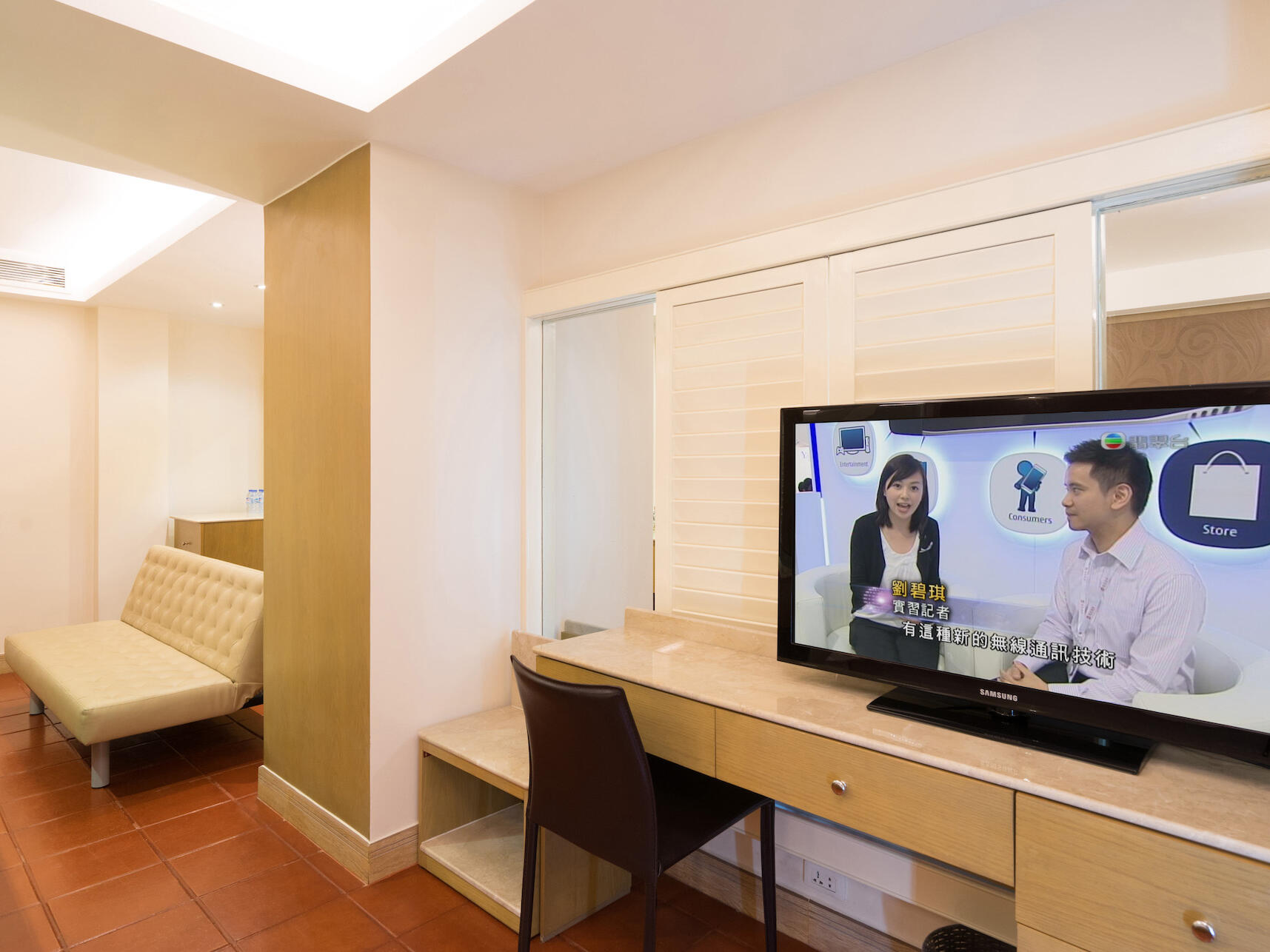 Studio Suite with TV and sitting area  at Empress Hotel Saigon
