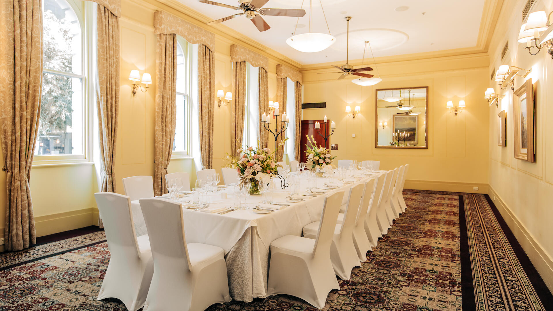 Intimate events in The Winston Room at The Windsor