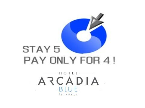 Stay 5 and Pay 4 at Hotel Arcadia Blue Istanbul