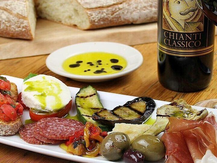 Appetizer platter served in Il Fornaio at Pine Inn