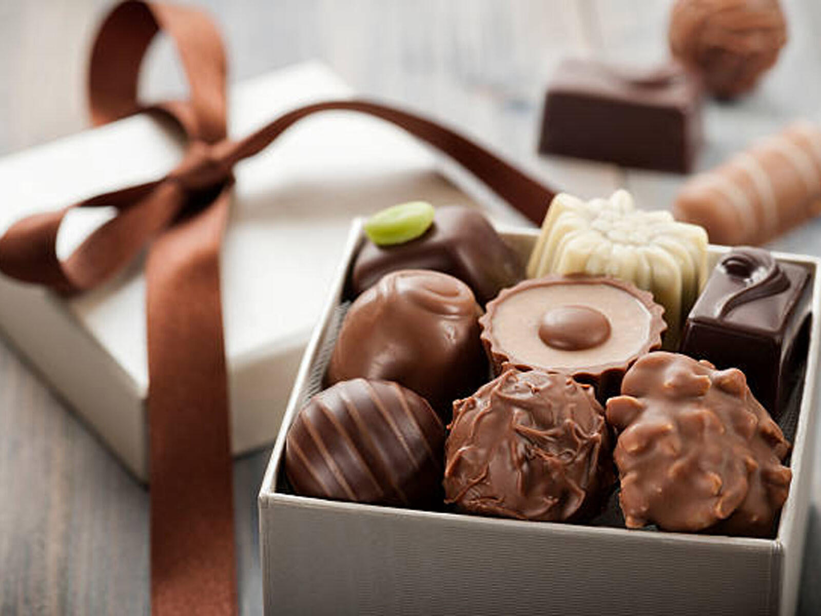 box of various appetizing chocolates at The Inn of Waterloo