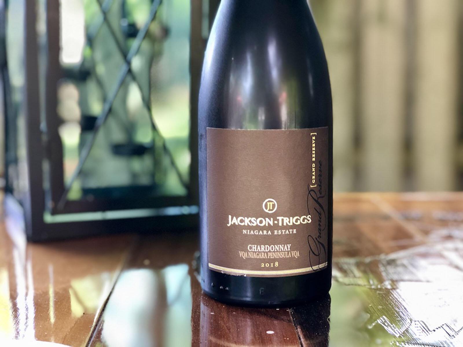 elegant vine bottle on a table at The Inn of Waterloo