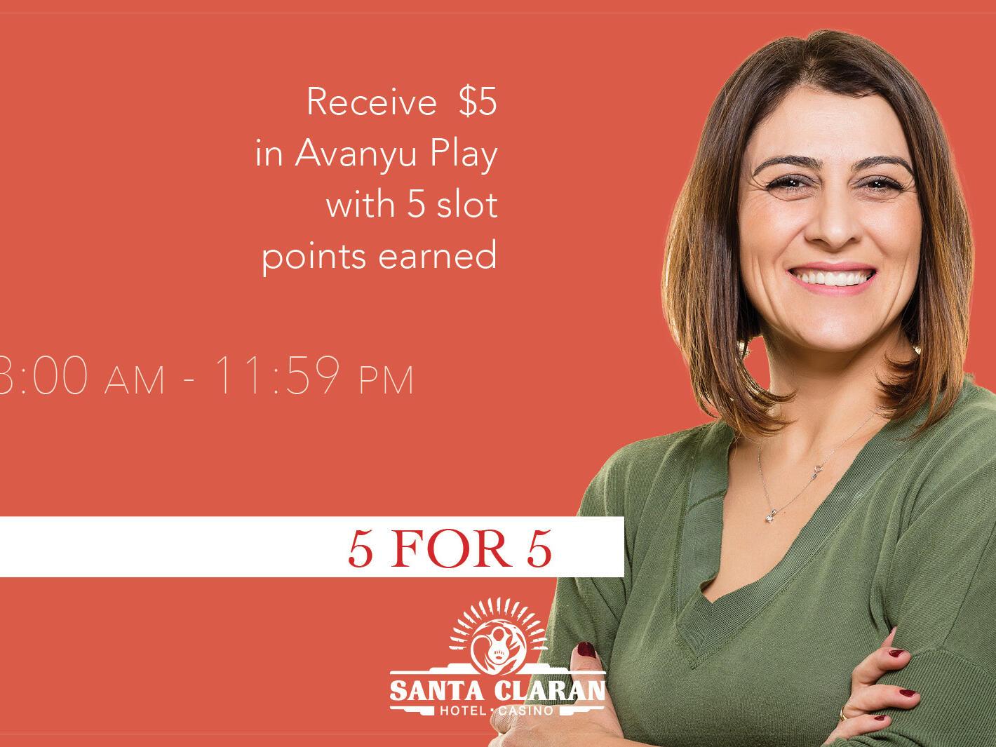 Poster of 5 FOR 5 at Santa Claran Hotel Casino