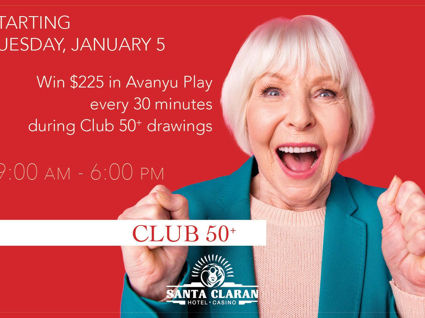 Poster of CLUB 50+ at Santa Claran Hotel Casino