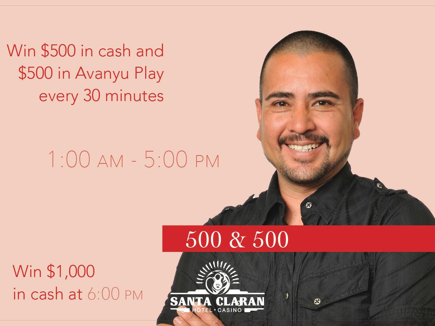 Poster of 500 & 500 at Santa Claran Hotel Casino