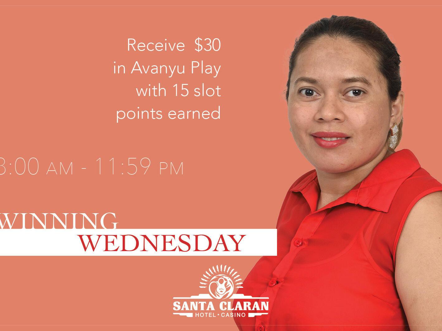 Poster of Winning Wednesday at Santa Claran Hotel Casino