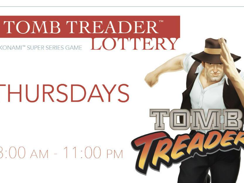 Poster of Superseries Thursday lottery drawings at Santa Claran Hotel Casino