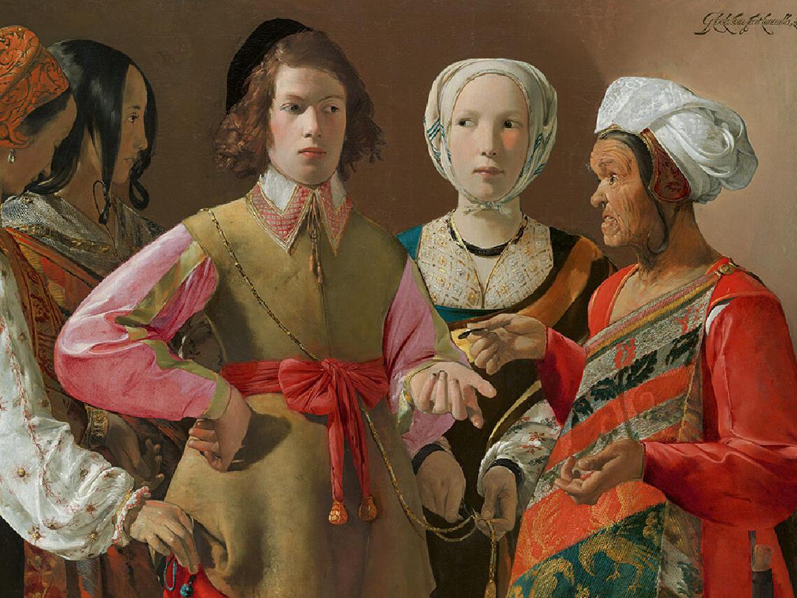 De la tour oil painting in Museum near Royal on the Park hotel