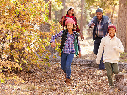 family-going-for-a-hike-during-the-fall