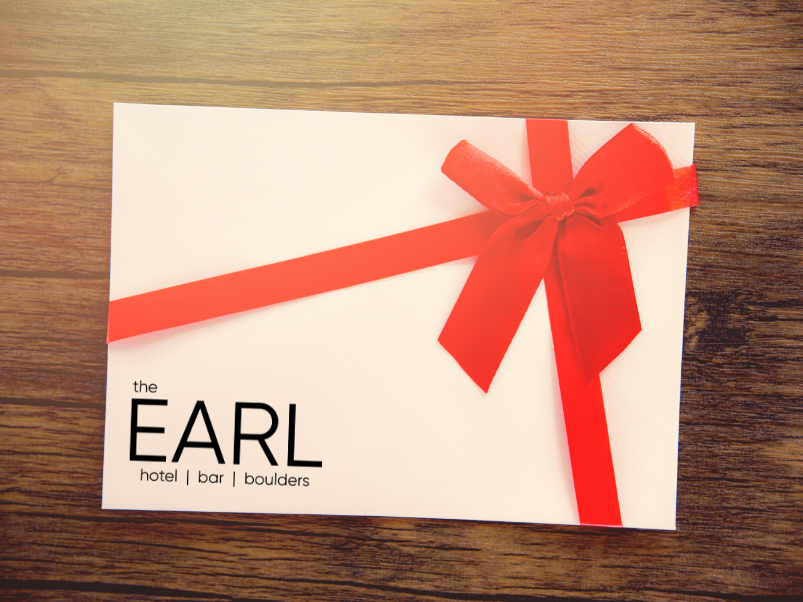 Gift certificate for Hotel Earl