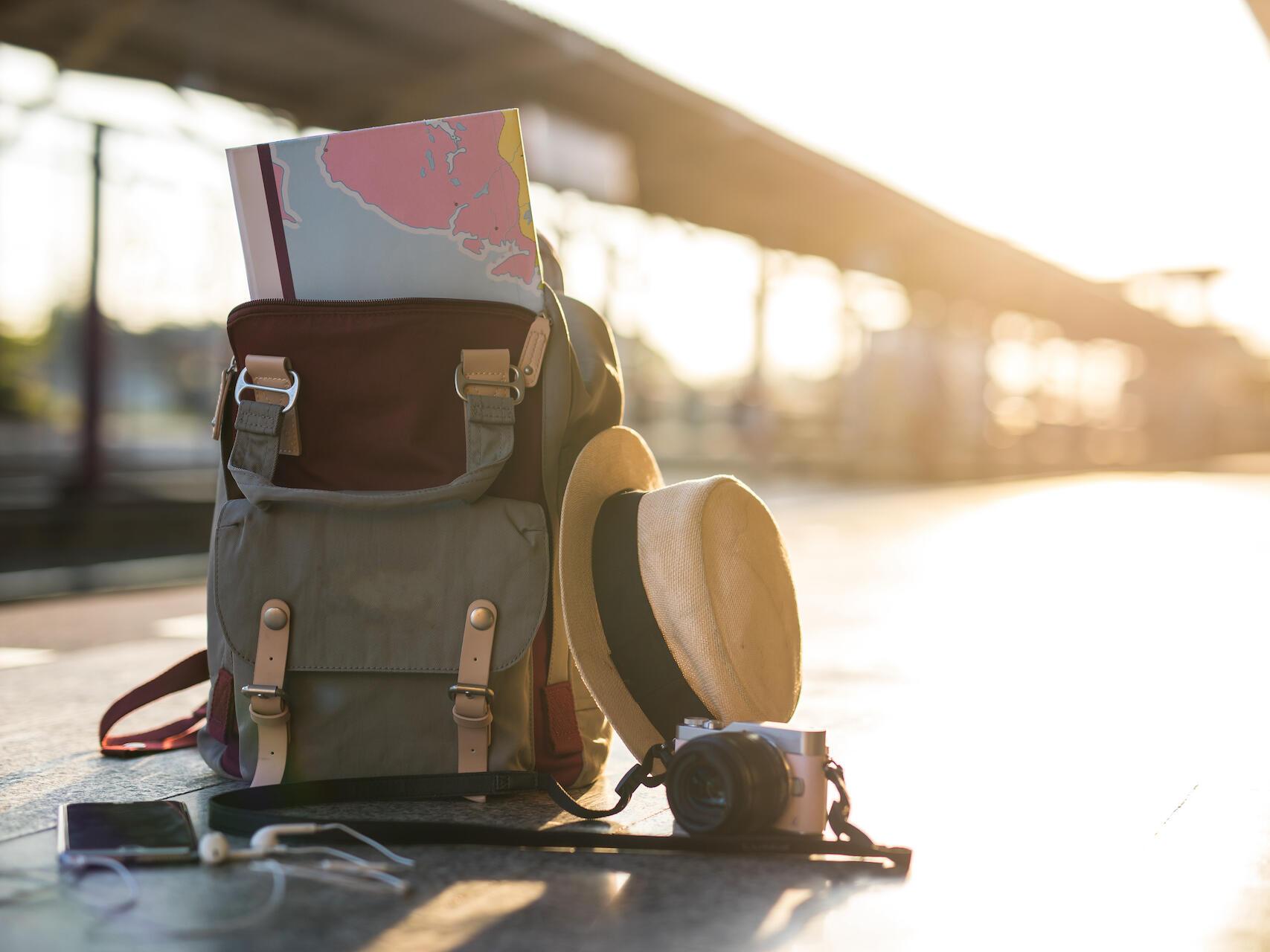 Travel backpack, linger longer and save package