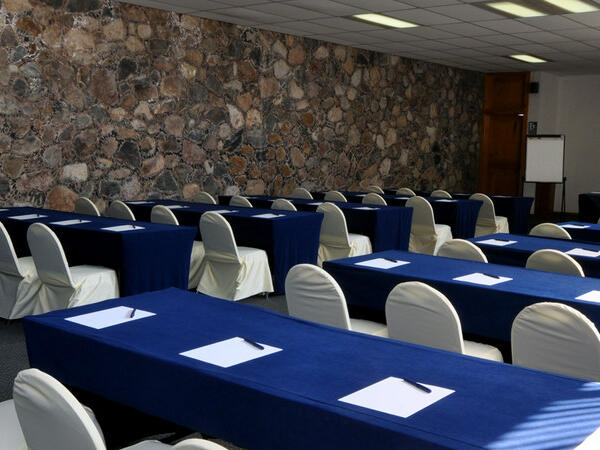 Table setting in a Conference room at Hacienda Cantalagua
