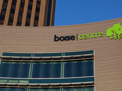 boise centre logo on a building