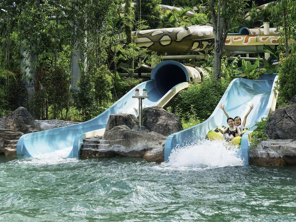 Double Slides at Sunway Lagoon Waterpark