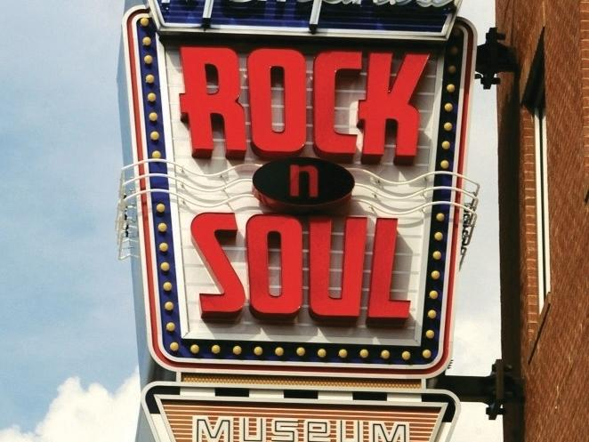 Memphis Rock N Soul Museum Signage