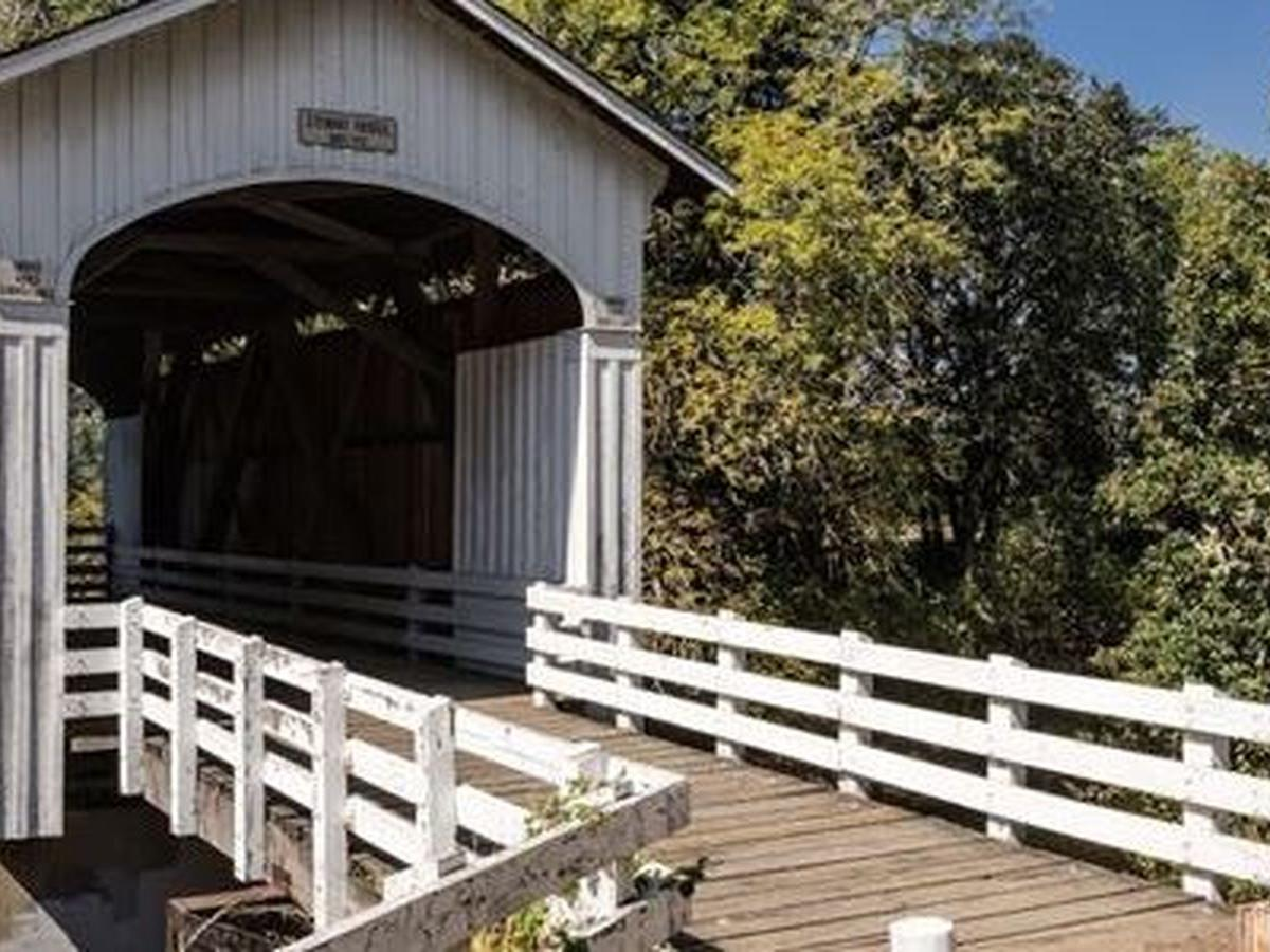 Historic covered bridge in Oregon