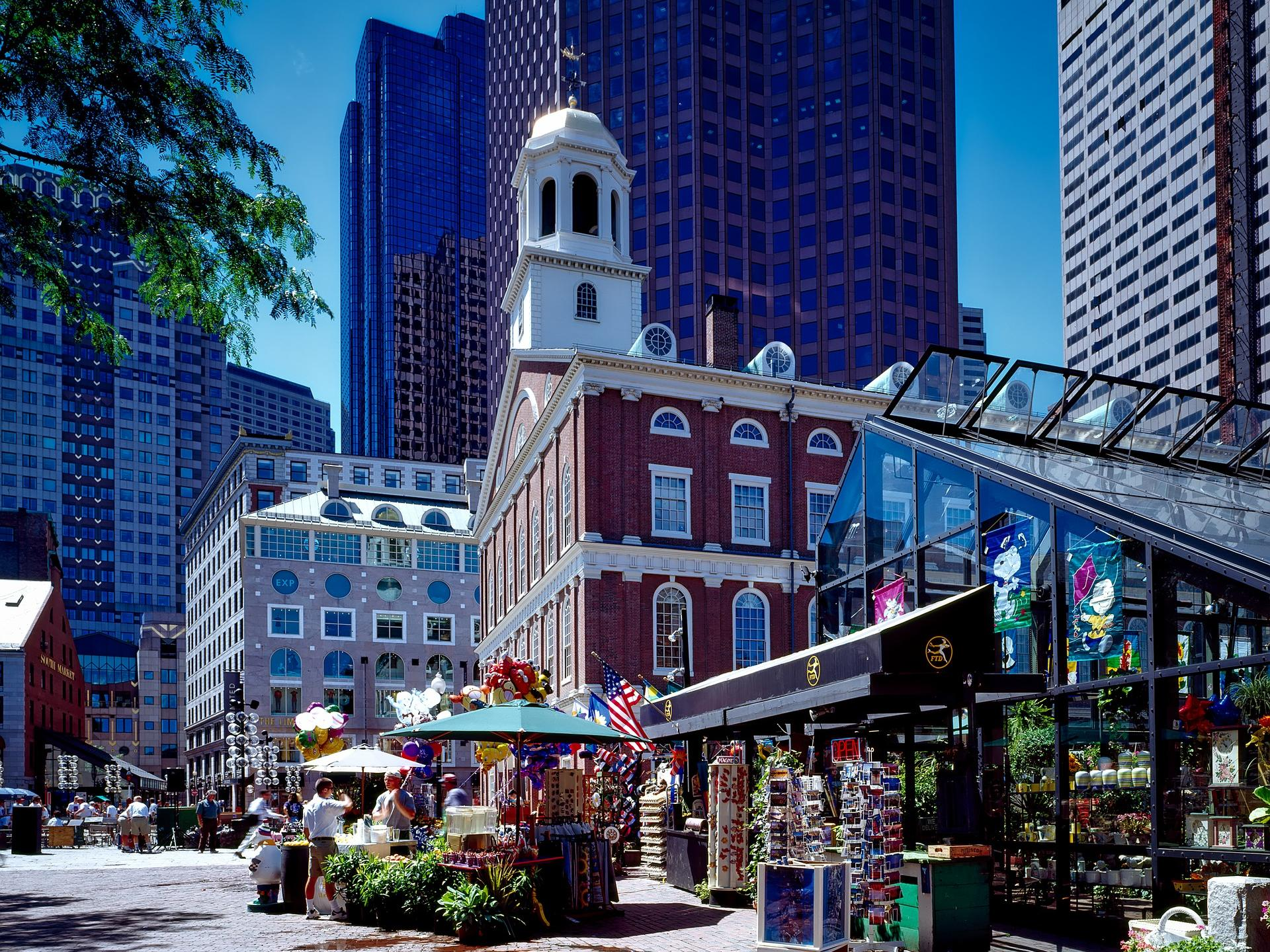Exterior of Faneuil Hall