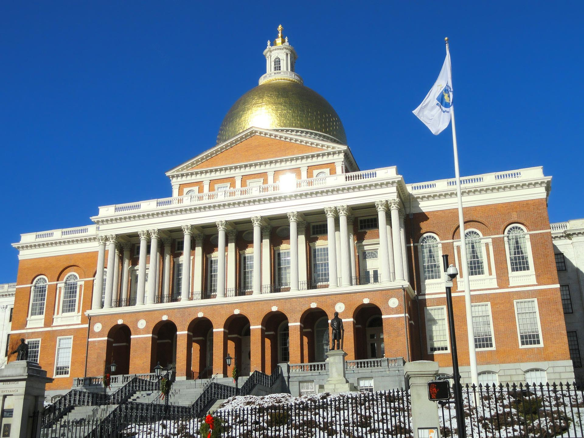 Exterior of Massachusetts State House