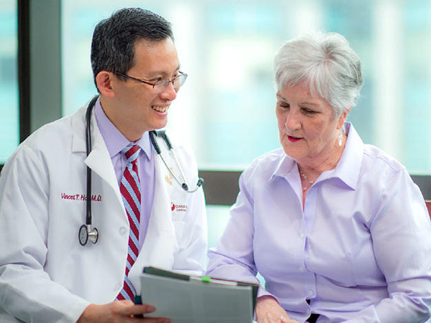 Doctor and patient at Dana-Farber Cancer Institute
