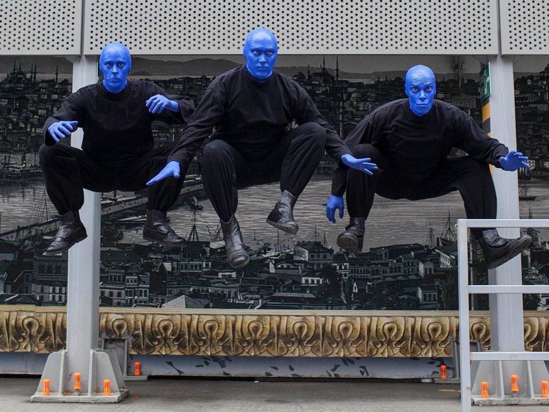 Blue Man Group performers