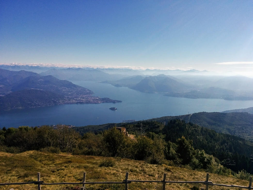 See the 7 lakes from the top of Mottarone