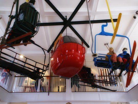 Art museum with ski lift piece.