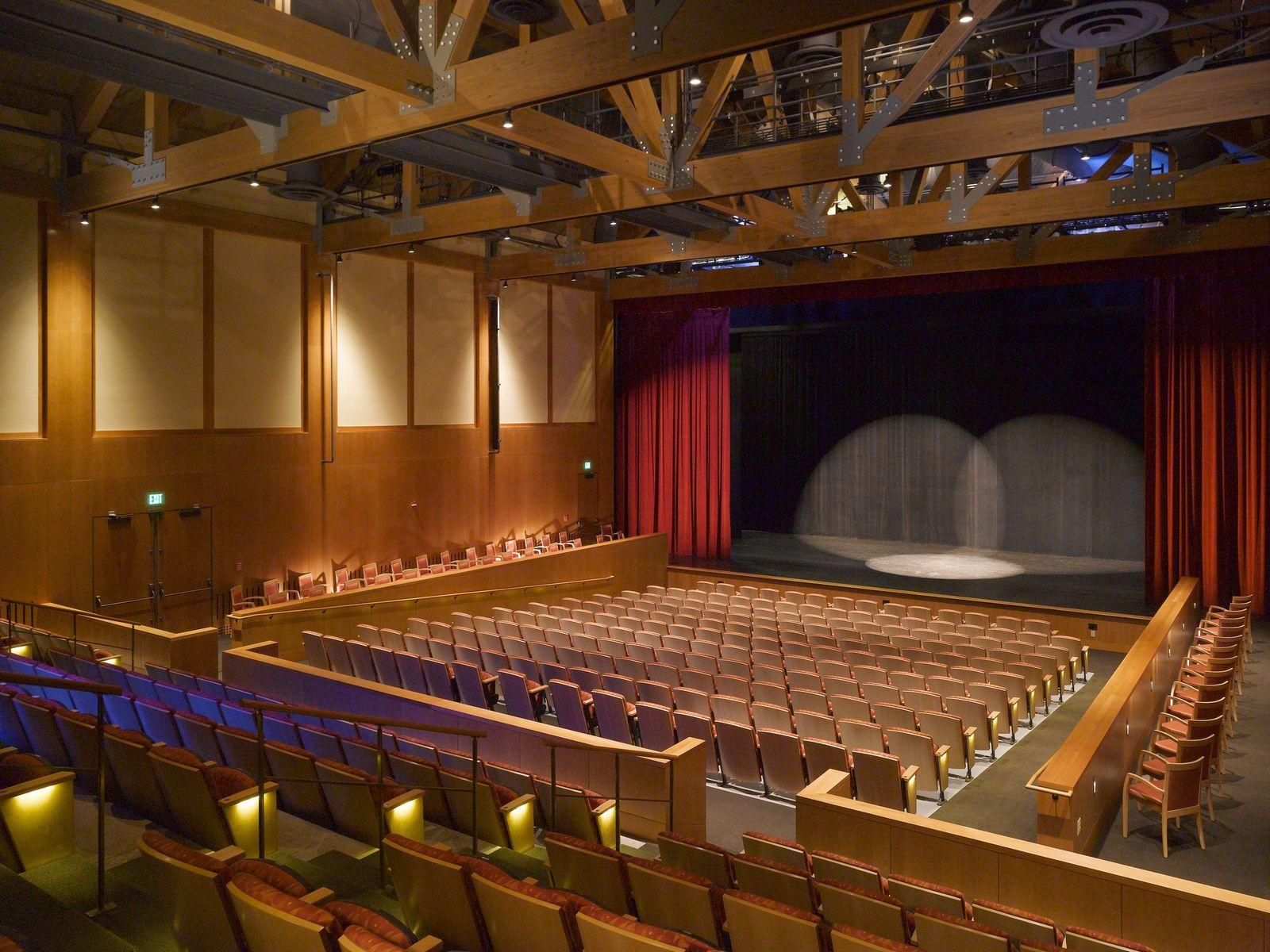 Auditorium of the Spruce Peak Performing Arts Center.