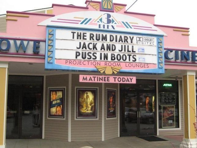Exterior of Stowe Cinema.