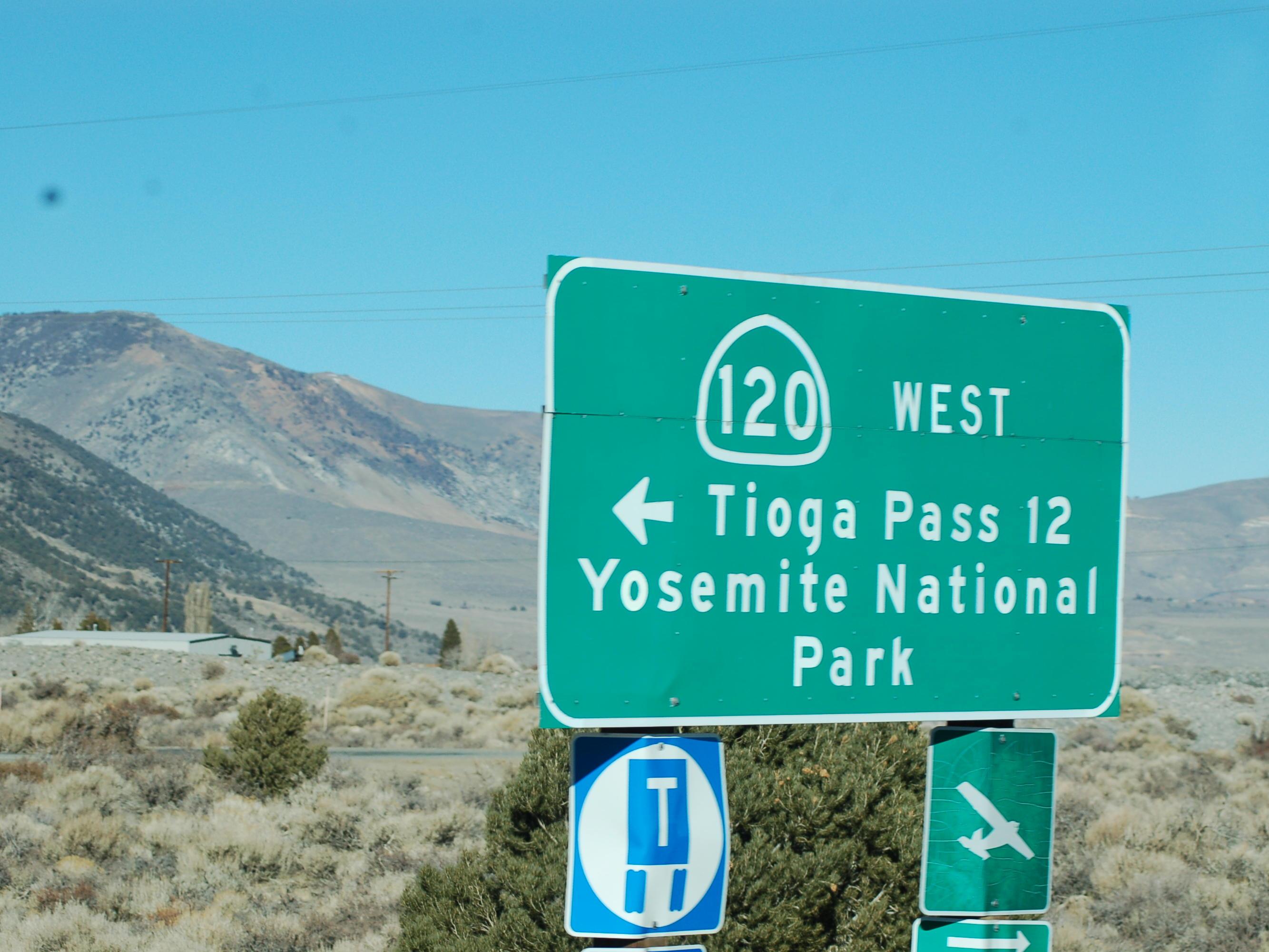 tioga pass sign