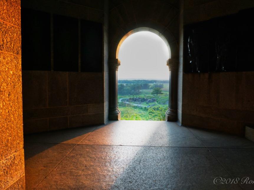 open door to expansive field