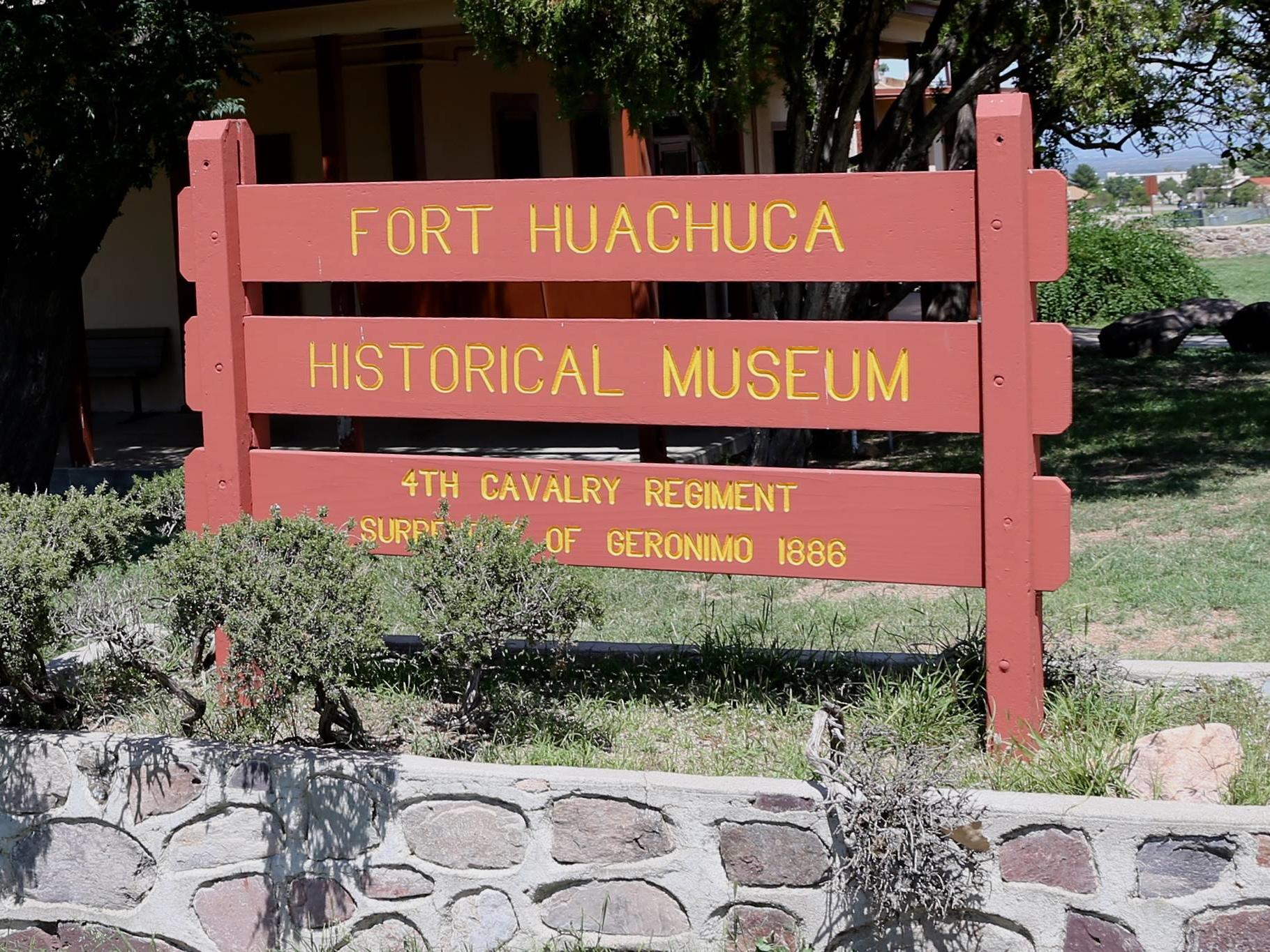 Sign for Fort Huachuca Historical Museum