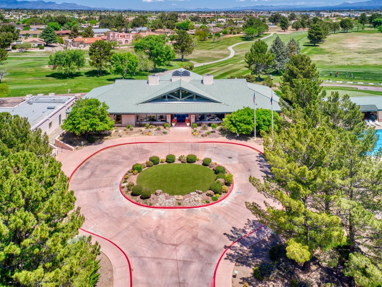 Drone photo of Pueblo del Sol golf course.