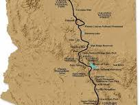 Map of Arizona trail