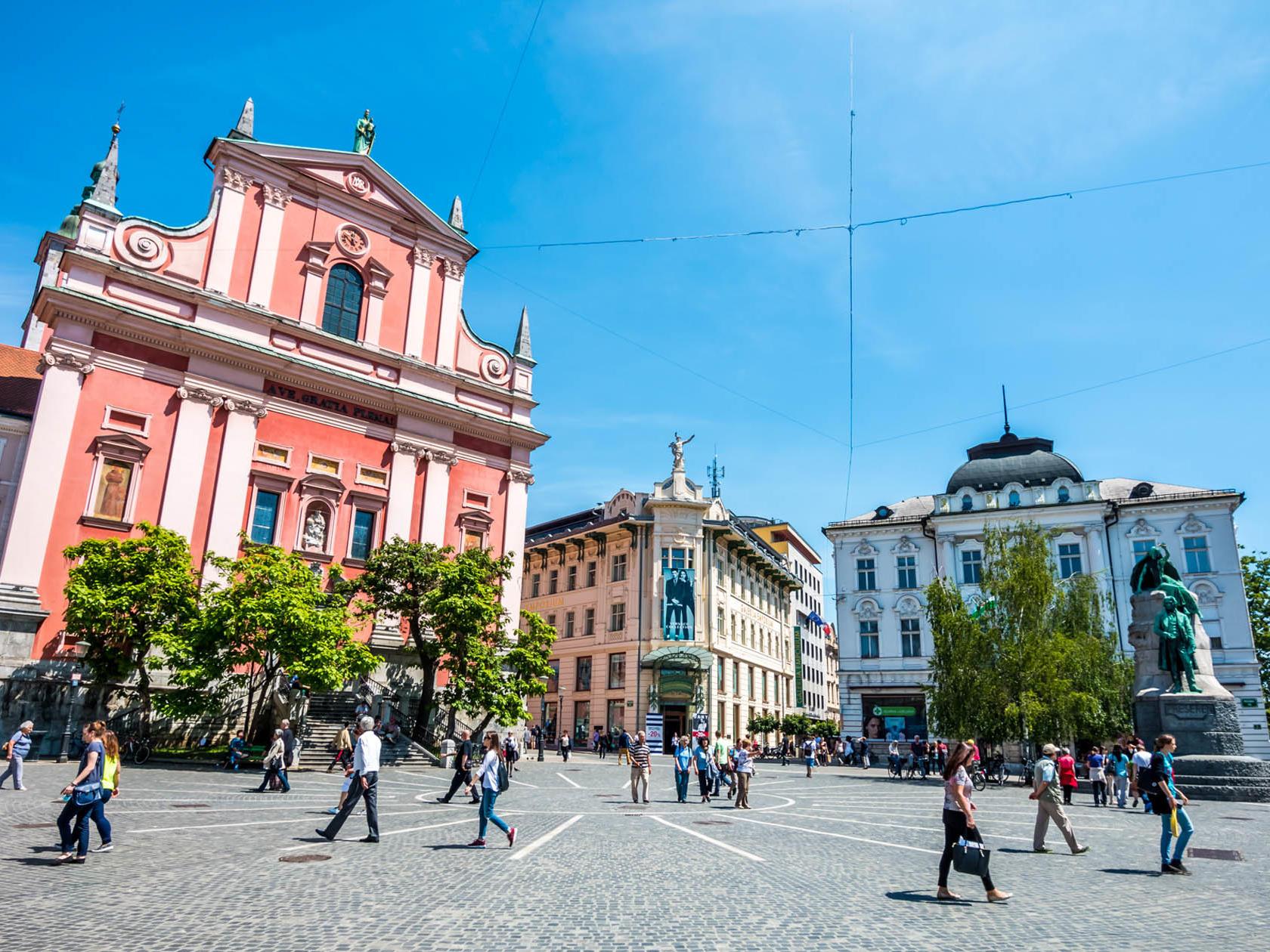 Ljubljana, Preseren Square