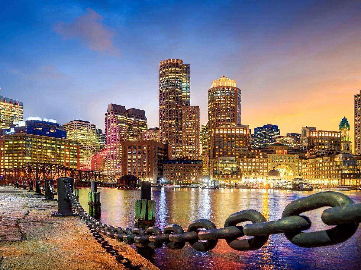 Boston Harbor with skyline