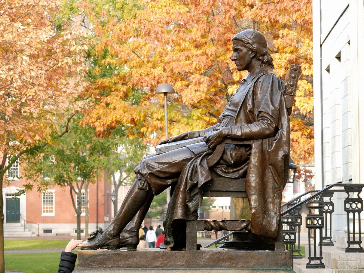 Statue on Harvard Campus