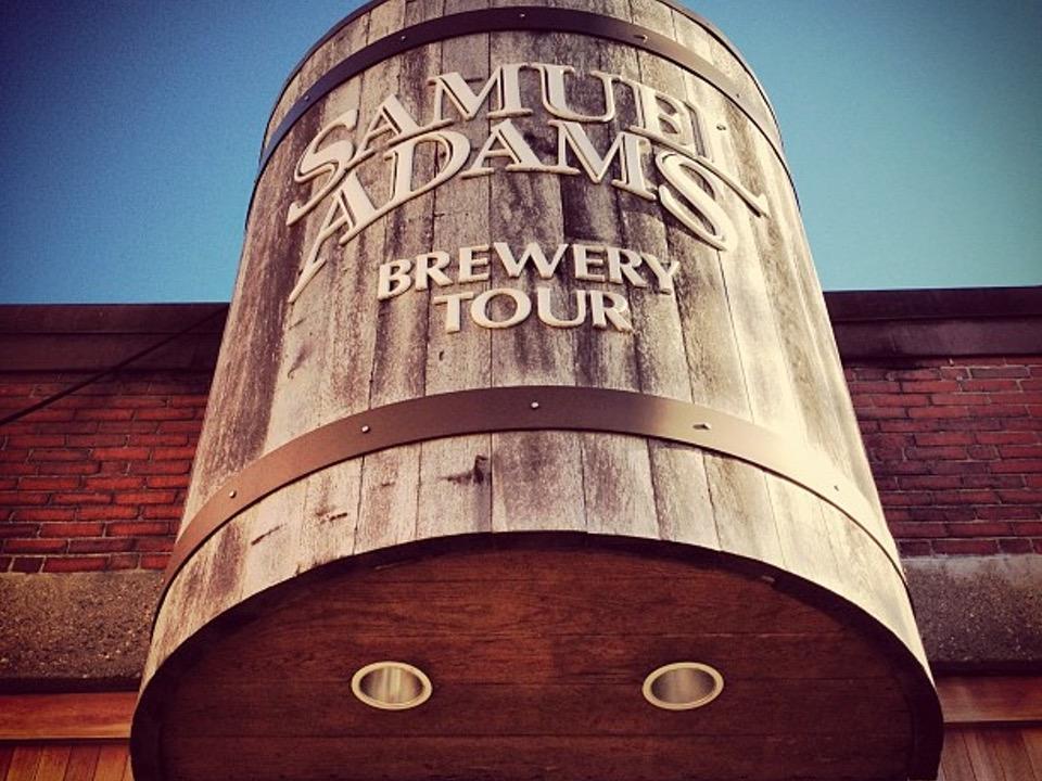 Samuel Adams Brewery Tour Signage