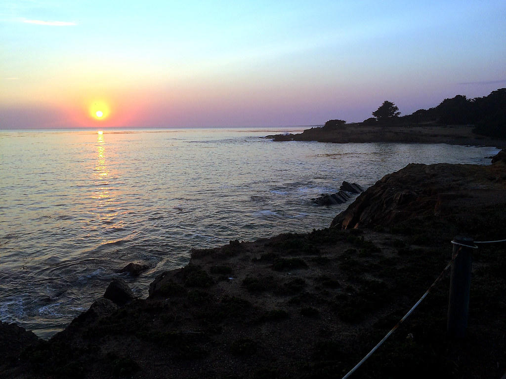 Sunset on the Moonstone Beach
