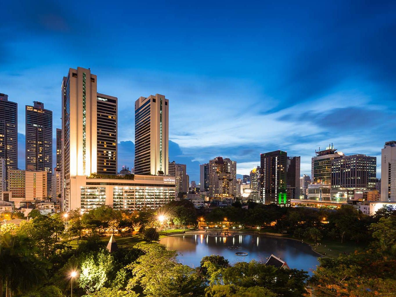 Benjakiti Park near Chatrium Hotel Riverside Bangkok